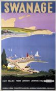 Swanage, Dorset. Vintage British Railways Travel Poster by Verney L Danvers